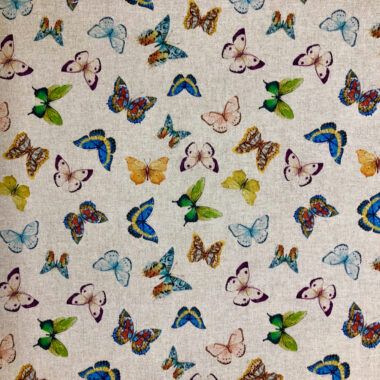 Exotic Butterfly Digital Linen Style Cotton Canvas