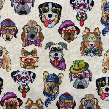 New World Tapestry Dogs Fabric