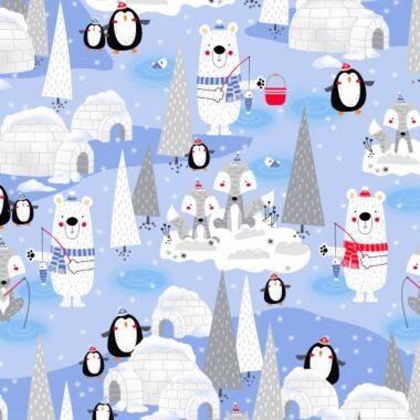 Polar Pals Christmas Fabric Studio E Swizzle Stick Studios