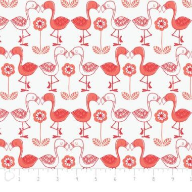 Jungly Flamingos Andrea Turk Fabric