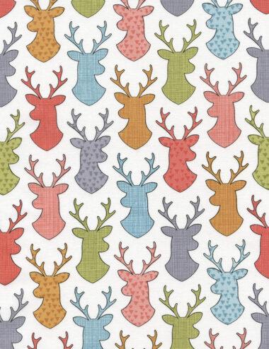 Deer Head Silhouettes Timeless Treasures Fabric