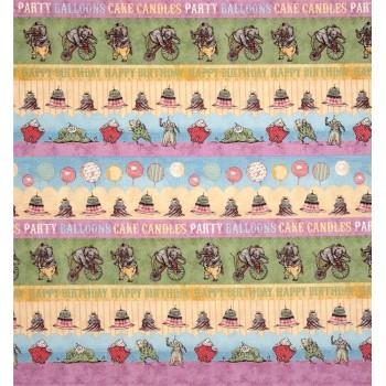 Hullabaloo Stripe Orchid Designs Fabric