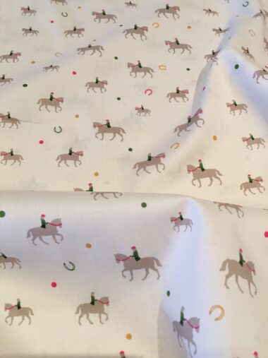Horse Riding Cotton Lawn Fabric