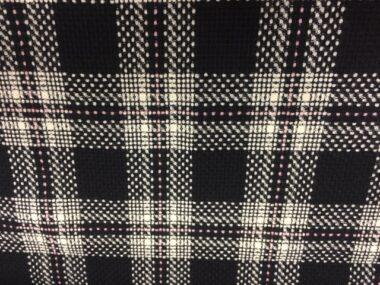 Wool Boucle Check Coat Fabric 5746
