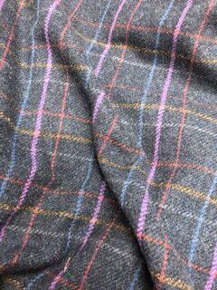 Checkered Wool Fabric