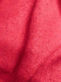 Cerise Boiled Wool Dress Coating Fabric
