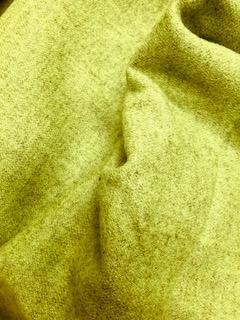 Lime Wool Coating Fabric