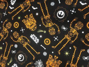 Star Wars Glow In The Dark Orange Cotton Fabric
