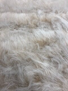 Camel Frost Long Haired Fur Fabric