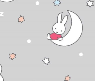 Miffy In The Clouds Cotton Fabric