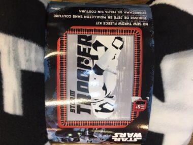 Storm Trooper Star Wars No Sew Fleece Blanket