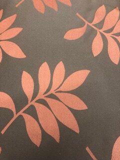 Terracotta Leaf Curtain Fabric