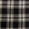 Black and Pink Wool Check Dress Fabric