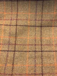 Barbour Wool Tweed Fabric Brown Check Fabric