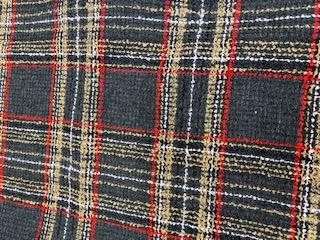 Wool Mix Tulsa Check Dress Fabric