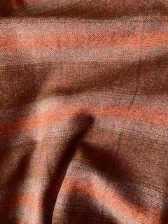 Rust Check 100% Wool Fabric