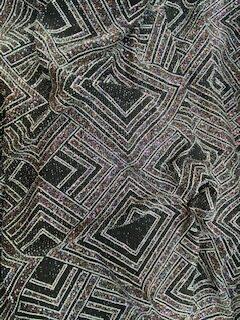 Insignia Chevron Sparkle Knit Fabric