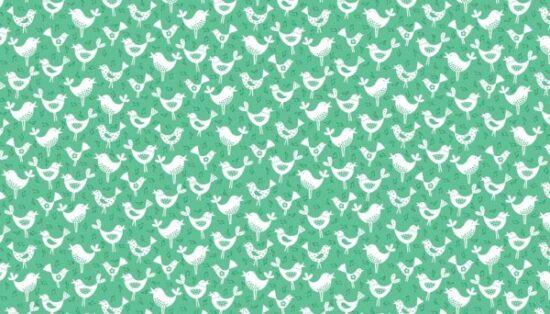 Fantasy Birds Makower Cotton Quilting Fabric