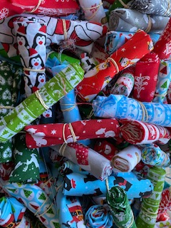 Christmas Poly Cotton Fat Quarter 5 Pack