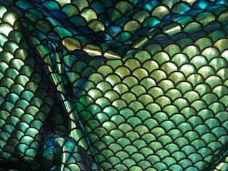 Mermaid Fish Scale Tail 4 Way Spandex Fabric