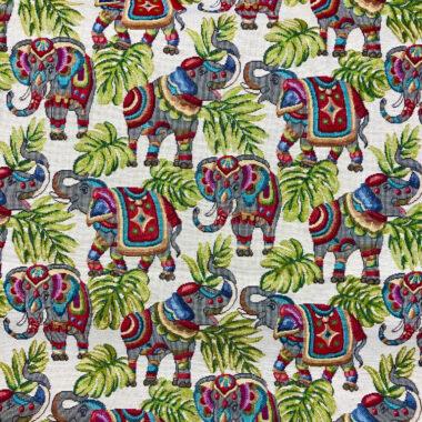 Elephant New World Tapestry Fabric