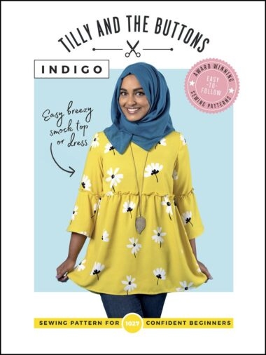 Indigo Top Smock and Dress Tilly and The Buttons Sewing Pattern