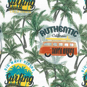 California Dreaming John Louden Cotton Dress Fabric