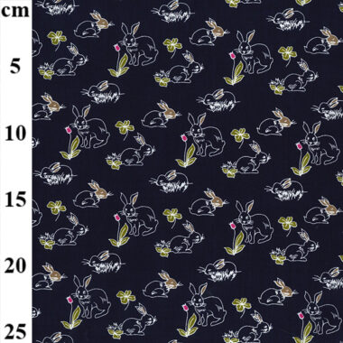 John Louden Bunny Viscose Dress Fabric