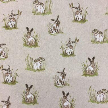 Linen Hares Fabric