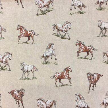 Horse Linen Canvas Fabric