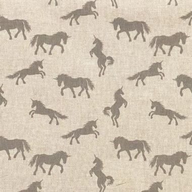 Unicorn Linen Look Canvas Fabric