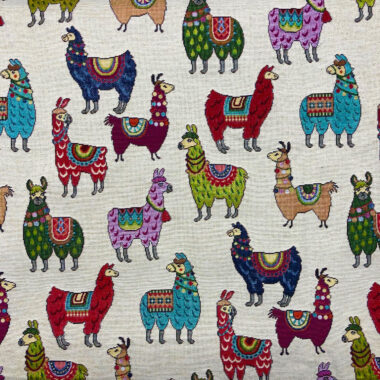 Llama Tapestry New World Fabric