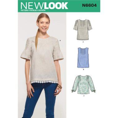 New Look Womens Top Sewing Pattern N6604