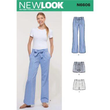New Look Womens Pants Sewing Pattern N6606