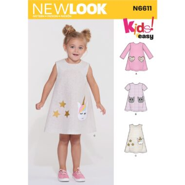 New Look Childrens Dress Sewing Pattern N6611