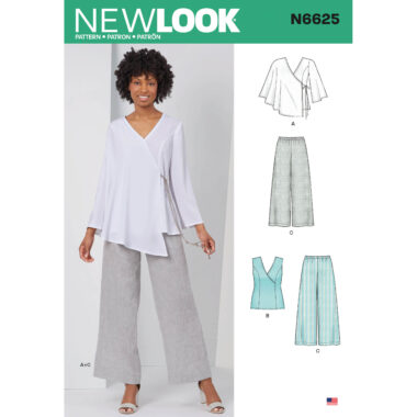 New Look 6625 Womens Top and Trousers Sewing Pattern