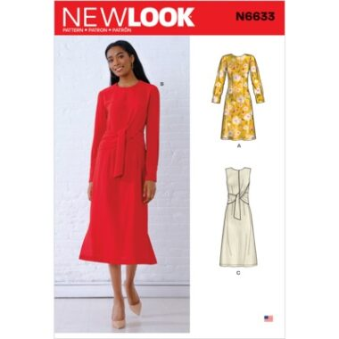 New Look 6633 Dress Sewing Pattern