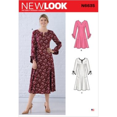 New Look Sewing Pattern N6635 Misses Princess Seamed Dresses