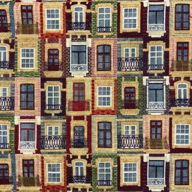 New World Lisbon Houses Tapestry Fabric
