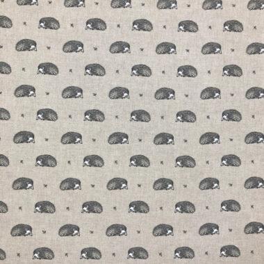 Hedgehog Linen Style Cotton Canvas