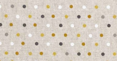 Dots Ochre Linen Style Canvas Fabric