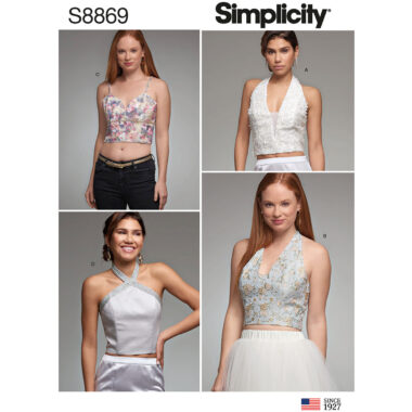 Simplicity 8869 Lined Top Sewing Pattern