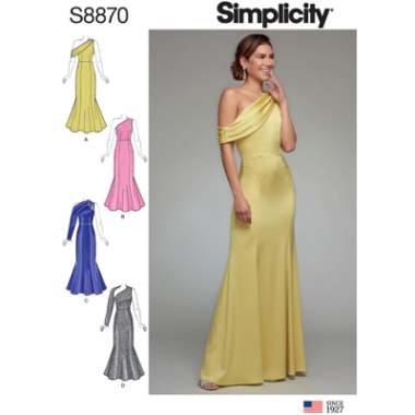 Simplicity 8870 Evening Prom Dress Sewing Pattern