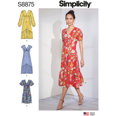 Simplicity Sewing Pattern S8875 Misses Dresses