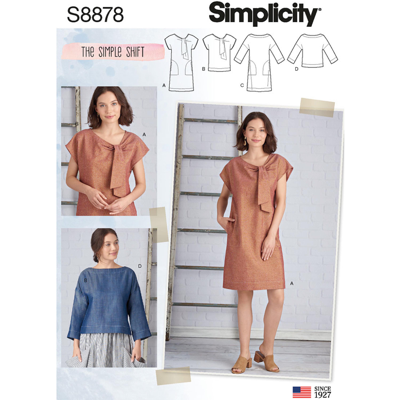 Simplicity Sewing Pattern S8878 Misses Dresses and Tops