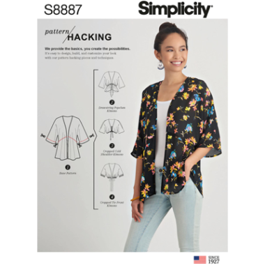 Simplicity Sewing Pattern S8887 Misses Design Hacking Kimono