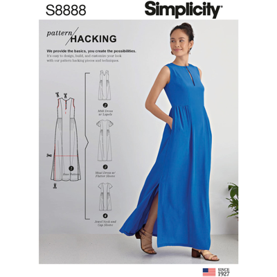 Simplicity Sewing Pattern S8888 Misses Design Hacking Dress