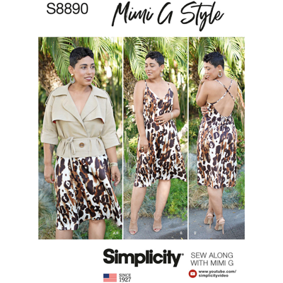 Simplicity Sewing Pattern S8890 Misses Slip Dress and Jacket by Mimi G Style