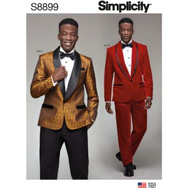 Simplicity Sewing Pattern S8899 Mens Tuxedo Jackets Pants and Bow Tie