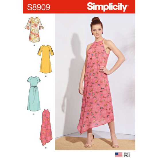 Simplicity Sewing Pattern S8909 Misses Dresses